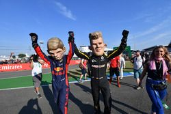 Max Verstappen, Red Bull Racing and Nico Hulkenberg, Renault Sport F1 Team caricatures