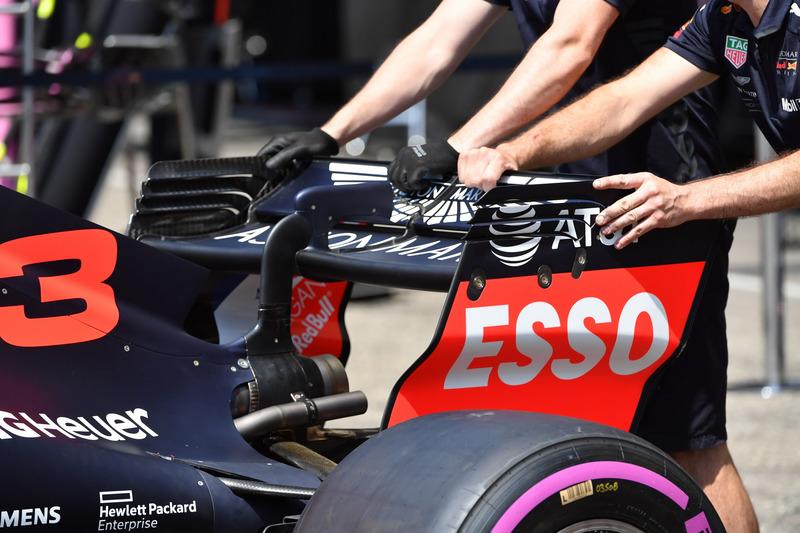 Aileron arrière de la Red Bull Racing RB14