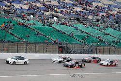Toyota Camry, pace car, leadsing Tyler Reddick, Chip Ganassi Racing Chevrolet and Erik Jones, Joe Gi