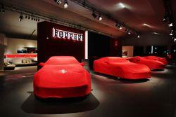 Ferrari cars in the night