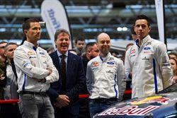 Sébastien Ogier, Malcolm Wilson, Elfyn Evans and co-drivers Julien Ingrassia and Daniel Barritt, M-S