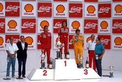 Podyum: Yarış galibi Alain Prost, 2. Gerhard Berger, 3. Nelson Piquet