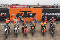 #77 KTM Racing Team: Luciano Benavides, #15 KTM Racing Team: Laia Sanz, #1 Red Bull KTM Factory Team
