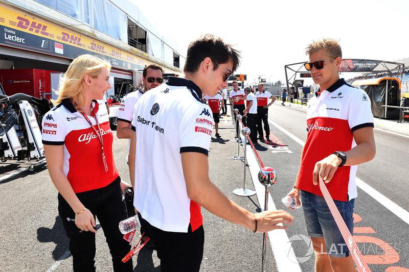 Charles Leclerc, Sauber e Marcus Ericsson, Sauber