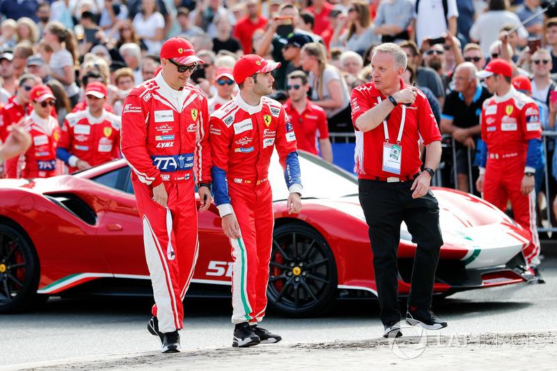 #52 AF Corse Ferrari 488 GTE EVO: Toni Vilander, Antonio Giovinazzi, Pipo Derani and #71 AF Corse Ferrari 488 GTE EVO: Davide Rigon, Sam Bird, Miguel Molina