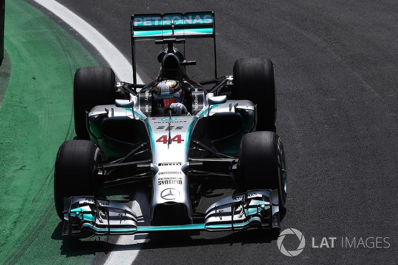 2014: Juara dunia, Lewis Hamilton, Mercedes AMG F1 W05 Hybrid