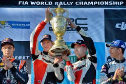 Podio: i vincitori Elfyn Evans, Daniel Barritt, Ford Fiesta WRC, M-Sport