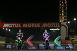 WSBK campeón Jonathan Rea, Kawasaki Racing, WSSP campeón Lucas Mahias, TRB Yamaha oficial WorldSSP e