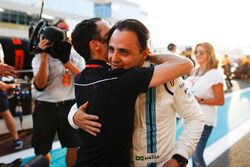 Nicolas Jean Todt, President, FIA. embraces Felipe Massa, Williams, ahead of the drivers final race in F1
