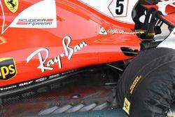 Ferrari SF70H: il fondo vecchio montato a Vettel
