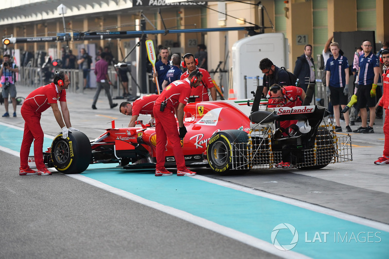 Kimi Raikkonen, Ferrari SF70H, sensores aerodinámicos