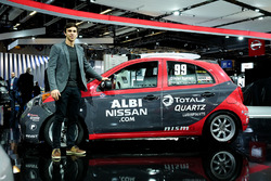 Olivier BŽédard with his Nissan Micra Cup car