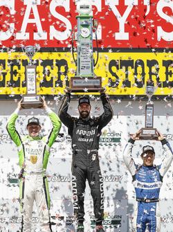 Podium: 1. James Hinchcliffe, 2. Spencer Pigot, 3. Takuma Sato