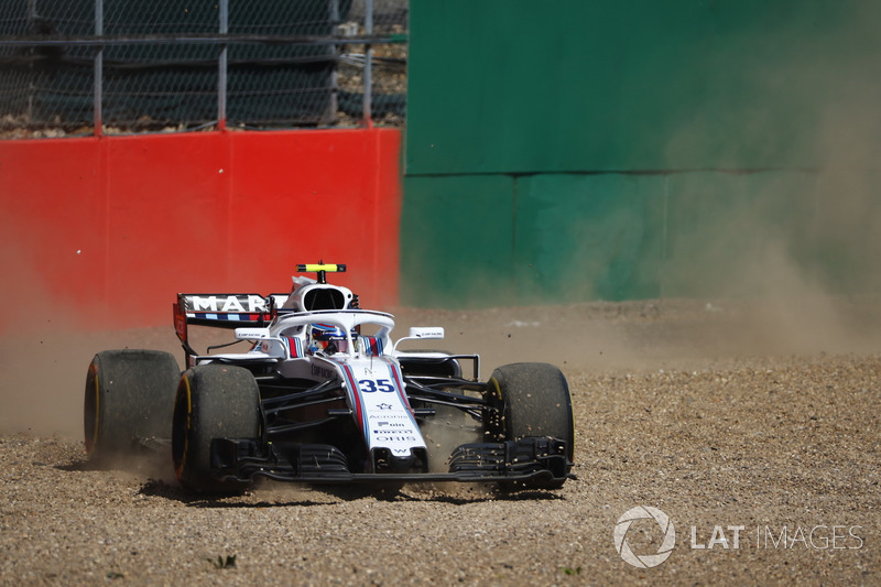 Sergey Sirotkin, Williams FW41, en tête à queue
