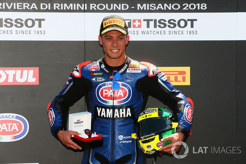 Pole sitter Federico Caricasulo, GRT Yamaha Official WorldSSP Team