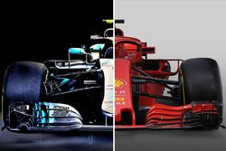 Mercedes and Ferrari comparison