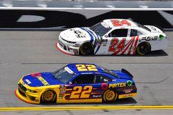 Ryan Blaney, Team Penske, Ford Mustang Pirtek and Justin Haley, GMS Racing, Chevrolet Camaro FOE