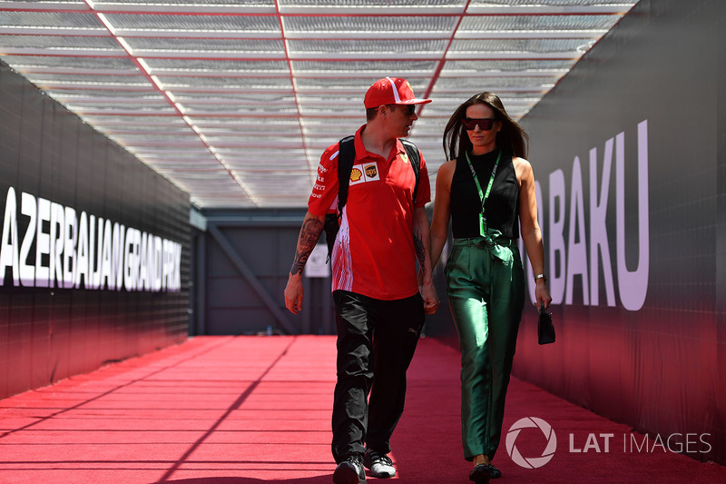 Kimi Raikkonen, Ferrari con su mujer, Minttu Virtanen