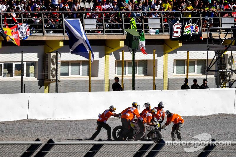 Caduta, Alvaro Bautista, Aspar Racing Team