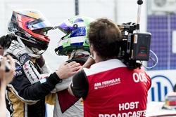 Jean-Eric Vergne, Techeetah, with Lucas di Grassi, Audi Sport ABT Schaeffler