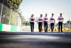 Charles Leclerc, Alfa Romeo Sauber F1 Team pist yürüyüşü