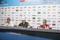 Lucas di Grassi, Audi Sport ABT Schaeffler, Nelson Piquet Jr., Jaguar Racing, andFelix Rosenqvist, M