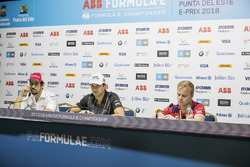 Lucas di Grassi, Audi Sport ABT Schaeffler, Nelson Piquet Jr., Jaguar Racing, andFelix Rosenqvist, Mahindra Racing