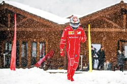Kimi Raikkonen in the snow