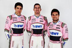 Nicholas Latifi, Sahara Force India F1, Esteban Ocon, Sahara Force India F1 and Sergio Perez, Sahara Force India