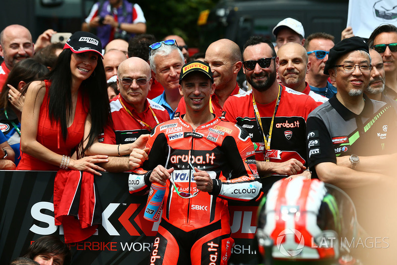Tercer lugar Marco Melandri, Aruba.it Racing-Ducati SBK Team