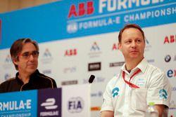 Mark Preston, Techeetah Team Principal, Gary Hughes, Team Principal NIO Formula E Team
