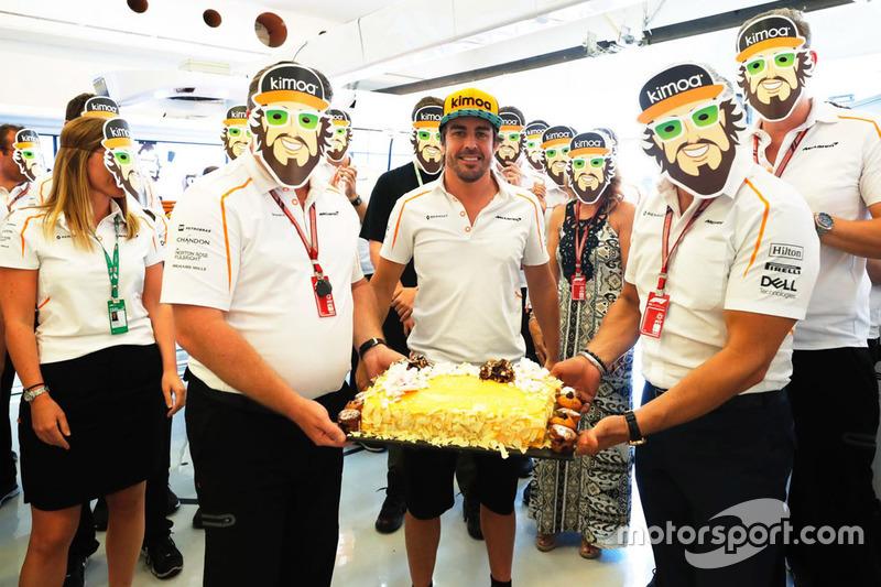 Perayaan ulang tahun Fernando Alonso ke-37