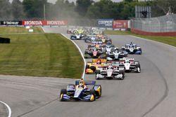 Alexander Rossi, Andretti Autosport Honda mène au départ