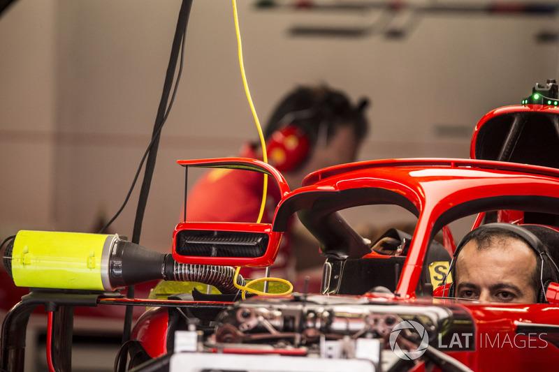 Halo y espejos Ferrari SF71H