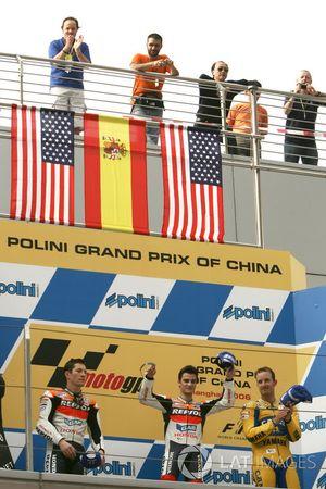 Podyum: 2. Nicky Hayden, Repsol Honda Team, yarış galibi Dani Pedrosa, Repsol Honda Team
