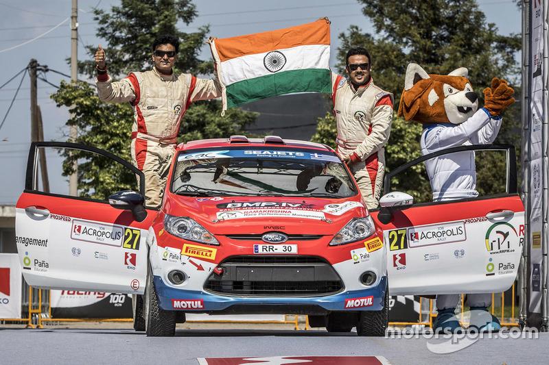 Amittrajit Ghosh and Ashwik Naik (European Rally Championship, Greece)