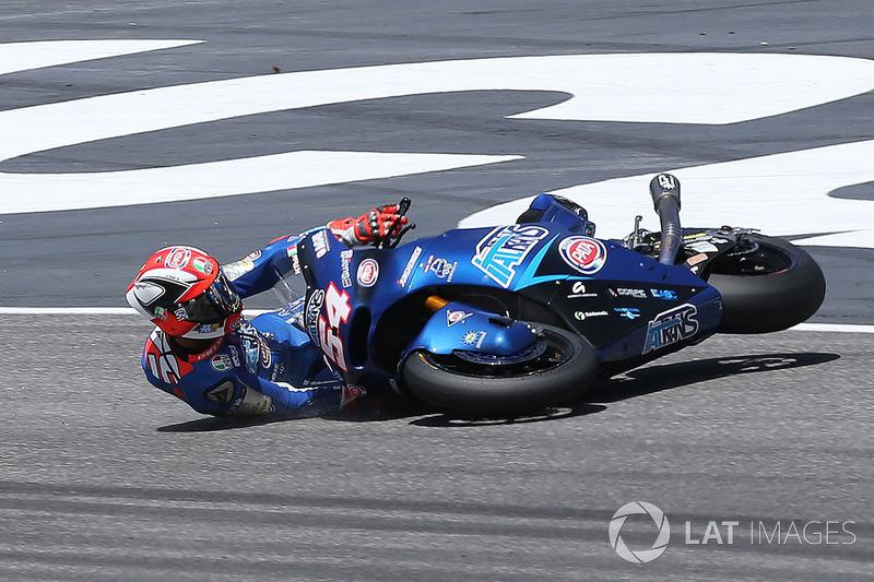 La caduta di Mattia Pasini, Italtrans Racing Team