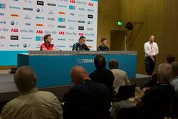 Nick Heidfeld, Mahindra Racing, Sébastien Buemi, Renault e.Dams, Edoardo Mortara, Venturi Formula E Team, in the press conference