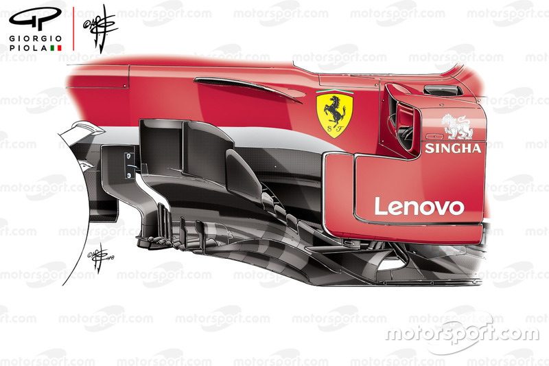 Ferrari SF71H bargeboard, Canadian GP