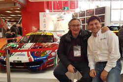 Direttore di Motorsport .com, Franco Nugnes con l'ex pilota Andrea Montermini
