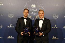 Sebastian Vettel et Valterri Bottas