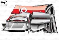 McLaren MP4-27 front wing (pre Silverstone specification)