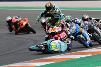 Accidente Lorenzo Dalla Porta, Leopard Racing, Tony Arbolino, Team O, John McPhee, SIC Racing Team, Alonso Lopez, Estrella Galicia 0,0