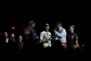 David Croft, Sky TV interviews BTCC drivers Dan Cammish, Andrew Jordan and Tom Ingram in the Live Action Arena