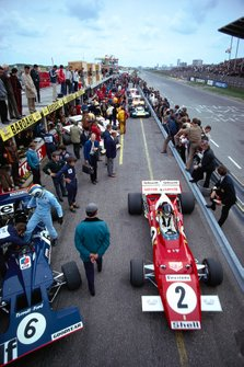 Francois Cevert, Tyrrell 002, Jacky Ickx, Ferrari 312B2
