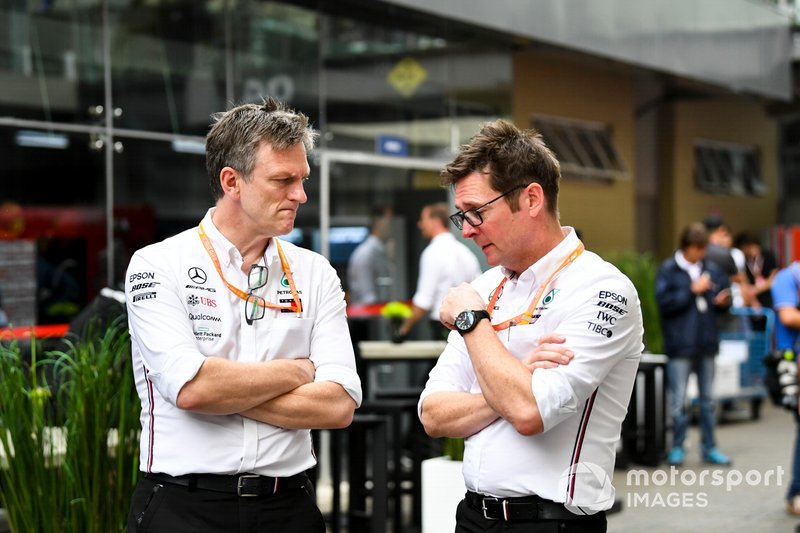 James Allison, Technical Director, Mercedes AMG and Andrew Shovlin, Chief Race Engineer, Mercedes AMG