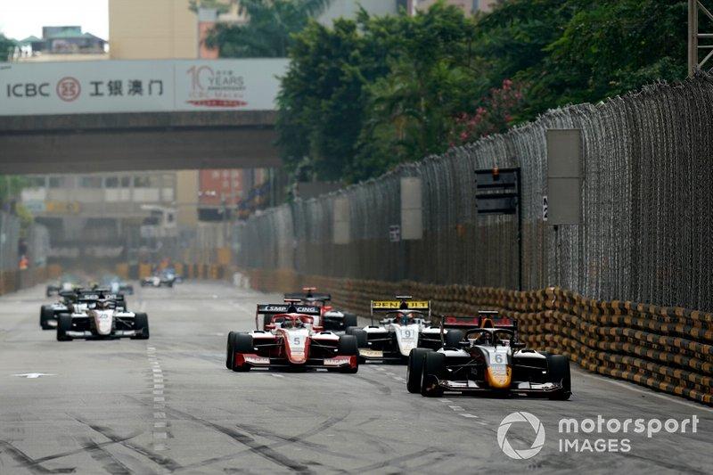 Jüri Vips, Hitech Grand Prix, Robert Shwartzman, SJM Theodore Racing by Prema, Christian Lundgaard, ART Grand Prix.