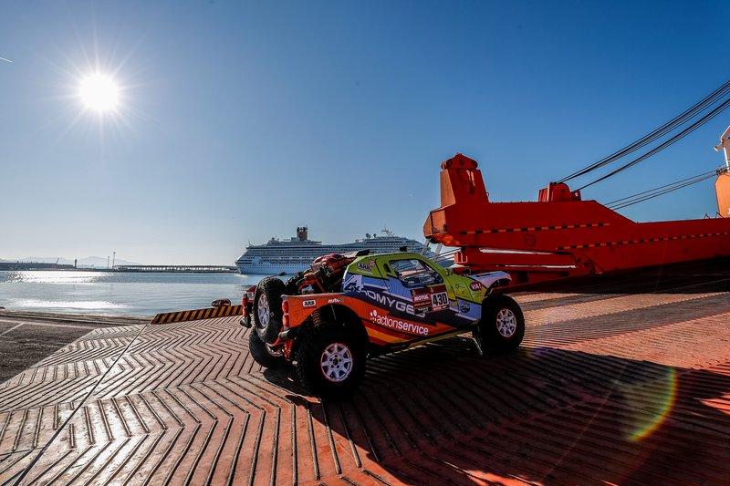Embarque en Marsella del Dakar 2020