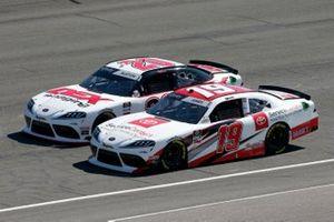 Brandon Jones, Joe Gibbs Racing, Toyota Supra Toyota Service Centers Harrison Burton, Joe Gibbs Racing, Toyota Supra Dex Imaging