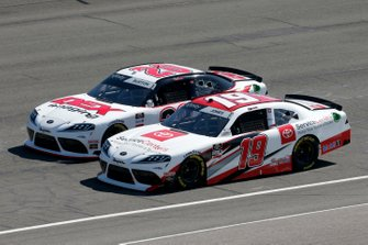 Brandon Jones, Joe Gibbs Racing, Toyota Supra Toyota Service Centers Harrison Burton, Joe Gibbs Racing, Toyota Supra Dex Imaging